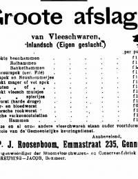 Advertentie in Maas- en Niersbode