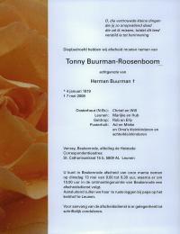 overlijdensbericht Antonia Roosenboom